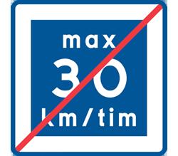 vilket vägmärke anger den lägsta hastigheten?